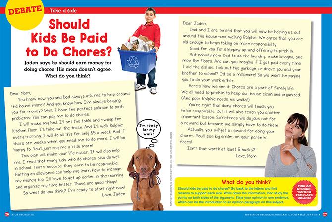 should kids do chores debate