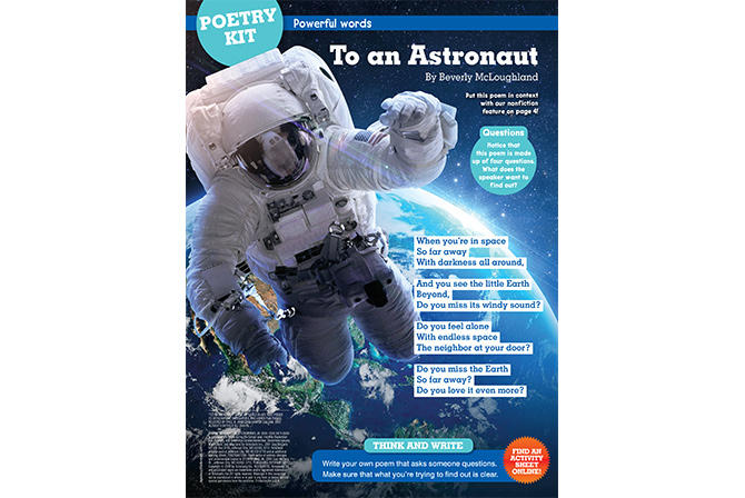 6cd0f52c6266f To an Astronaut - Writing Poetry | Scholastic Storyworks Jr. Magazine