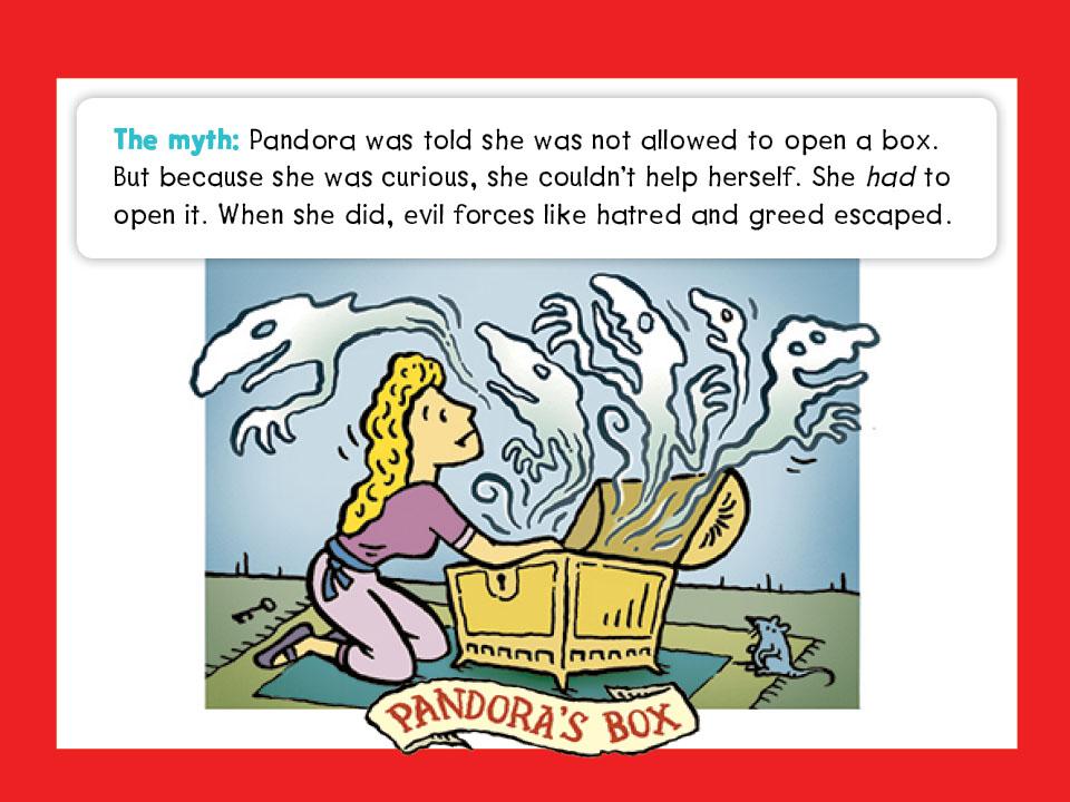 moral lesson of pandoras box